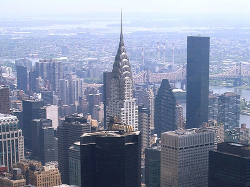 NYC skyline with the Chrysler building at the forefront