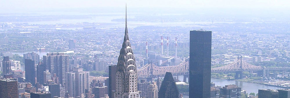 NYC skyline featuring the Chrysler building