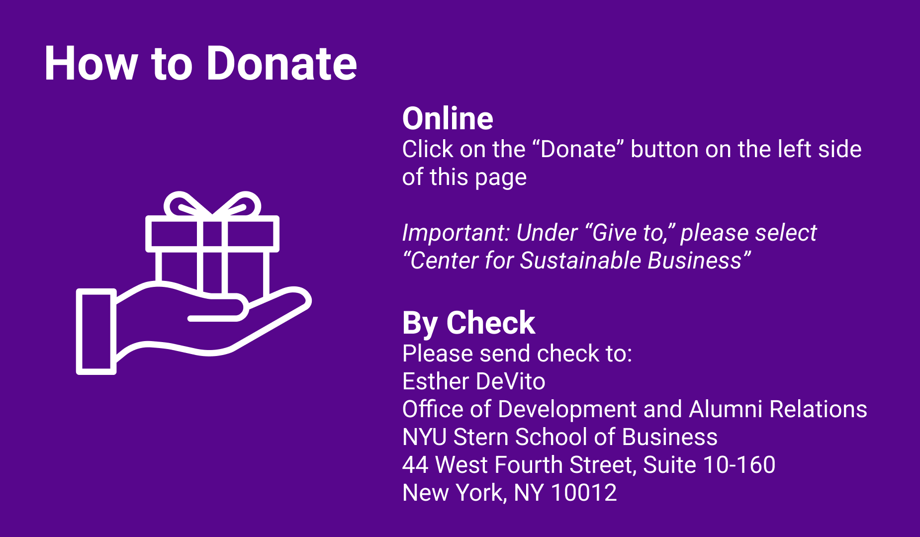 How to Donate