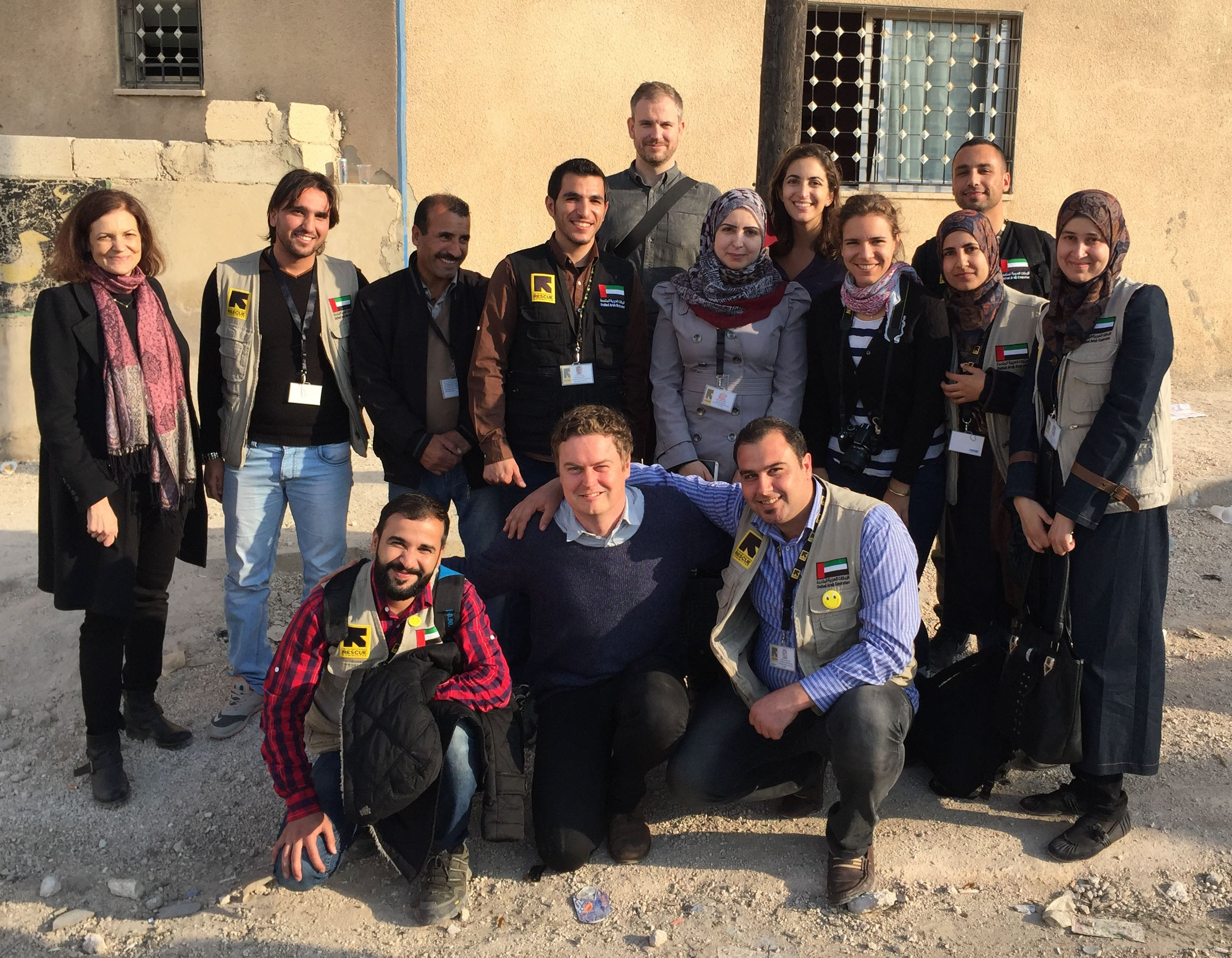 Matt Seden in northern Jordan visiting a mobile health clinic the IRC runs for refugees who have fled Syria