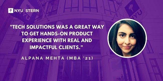 Graphic of Alpana Mehta headshot and quote