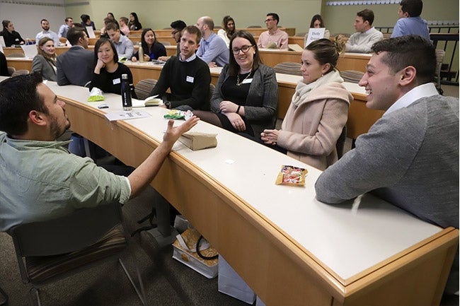 Group of new Langone Part-time MBA students