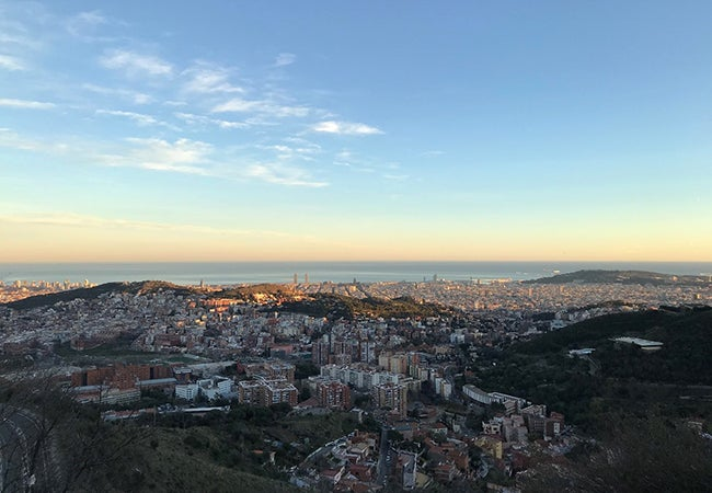 The view of Barcelona from the overlook Tibidabo, captured by MBA student Matt Scannella during a study abroad trip.