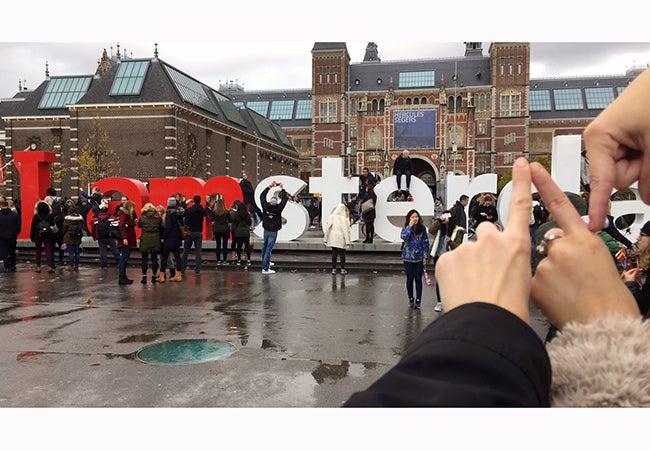 """I amsterdam"" sign"