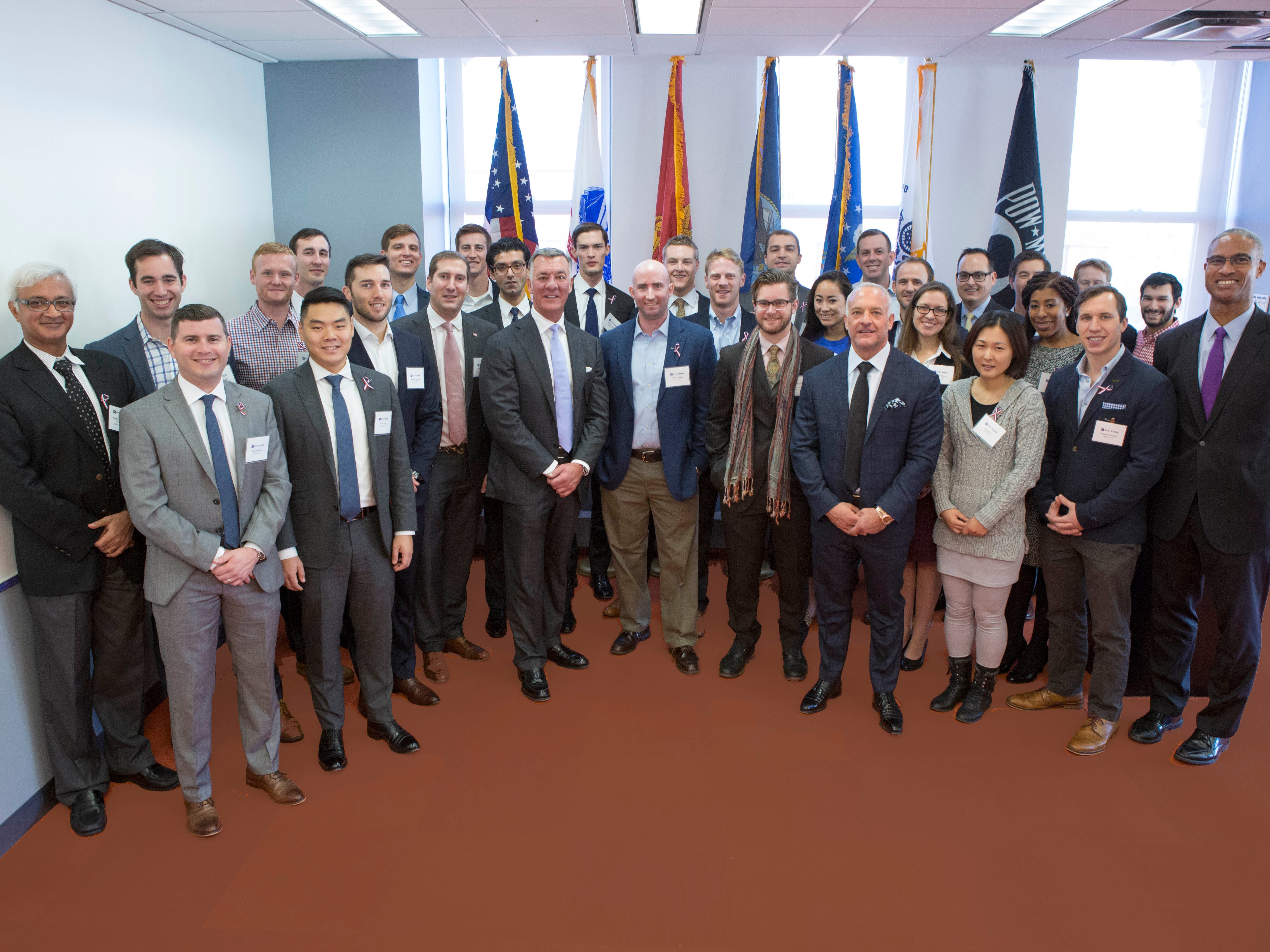 Group photo from the Fertitta Veterans Scholar reception