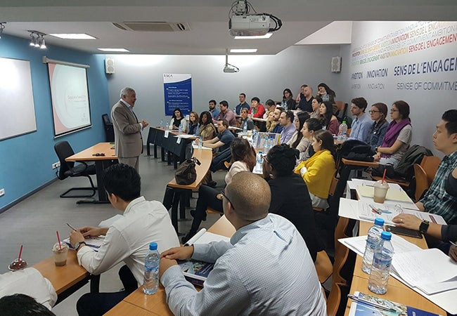 Presentation during the MBA trip in Morocco