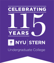 "Stern logo reading ""Celebrating 115 years of NYU Stern Undergraduate College"""