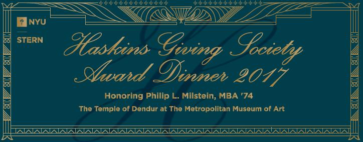 Haskins Giving Society Award Dinner 2017