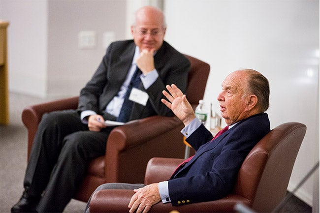 From left to right: Professor Kim Schoenholtz and Dr. Henry Kaufman