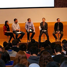 Students participating in a Q&A session