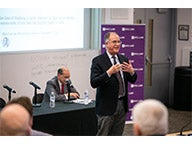 NYU Stern Professor David Yermack, director of the NYU Pollack Center, presents his co-authored research