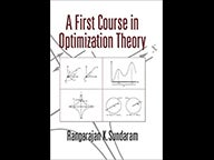 Cover of A First Course in Optimization Theory