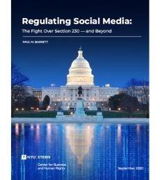 Regulating Social Media Report Cover