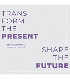 """""""Transform the Present. Shape the Future"""" conference sign"""