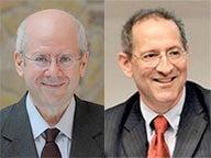 Kim Schoenholtz & Brandeis Prof. Stephen Cecchetti