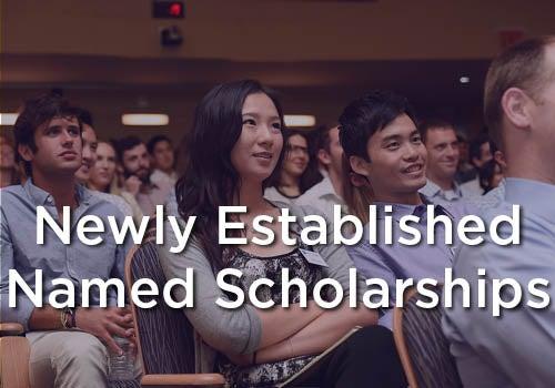 Scholarships - Newly Established Named