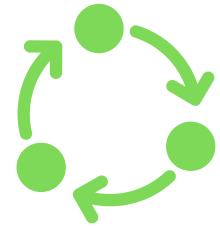 circularity green icon