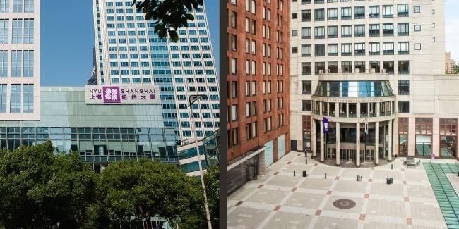 NYU Shanghai and NYU Stern exteriors