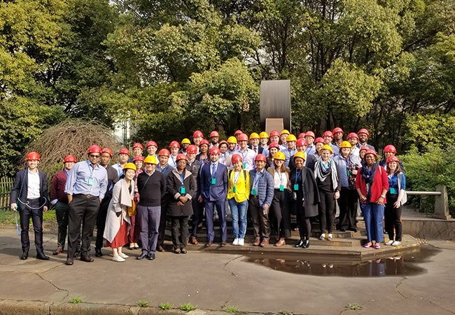 Executive MBA students visited BaoSteel with Professor Robert Salomon during a recent Global Study Tour in Shanghai in March.