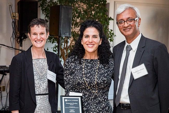 (center) Amal Shehata, Clinical Associate Professor of Accounting