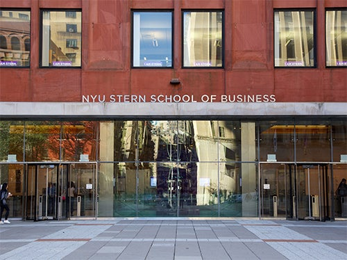 Front of Tisch Hall at Stern