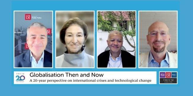 Screen shot of TRIUM 20th anniversary zoom panel