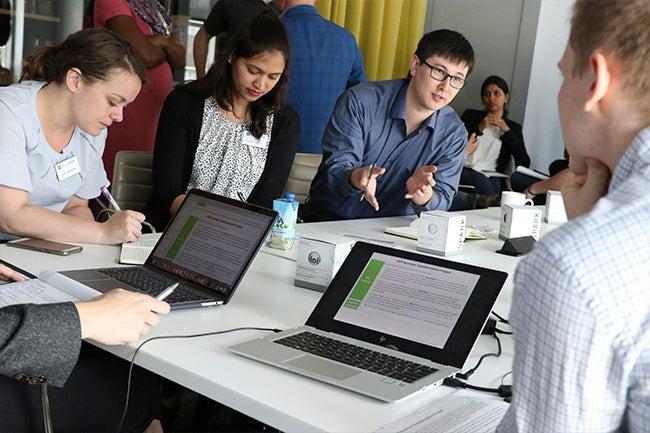 Students at Deloitte Digital