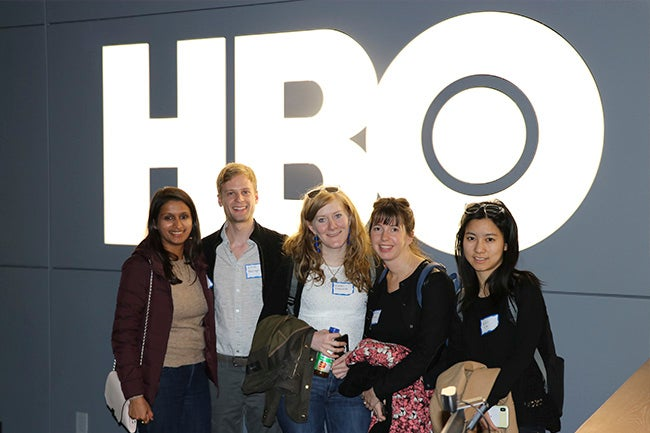 Students at the HBO corporate office