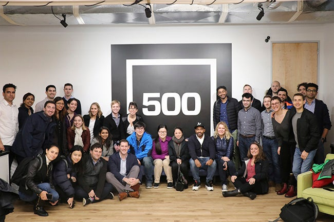 Students at 500 Startups corporate office