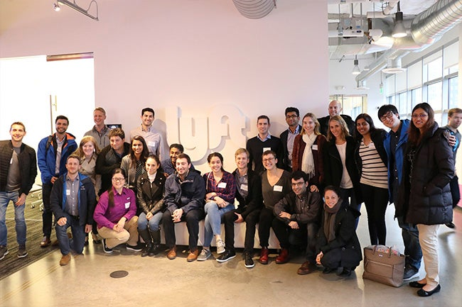 Students at Lyft's headquarters