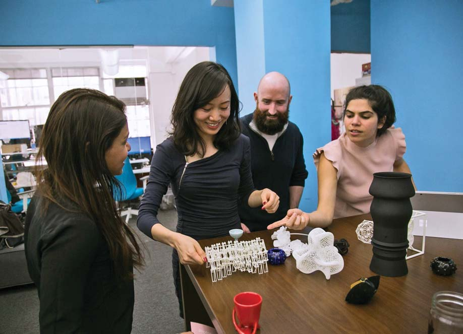 Stern MBA students collaborate on a 3D printer project