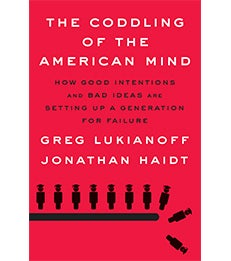 "Book cover of ""The Coddling of the American Mind"""