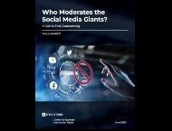 "Cover of ""Who Moderates the Social Media Giants?"""