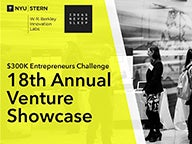 "Graphic with copy, ""$300K Entrepreneurs Challenge 18th Annual Venture Showcase"""