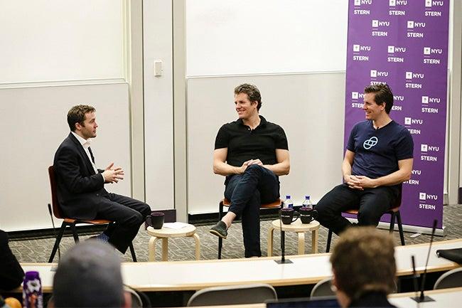 Professor Max Raskin speaks with Tyler and Cameron Winklevoss