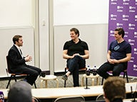 Professor Max Raskin speaks with Tyler and Cameron Winklevoss