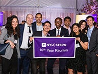 A group of alumni at the 2019 NYU Stern Reunion