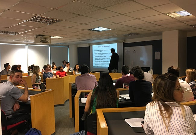 Presentation during the MBA trip in Argentina