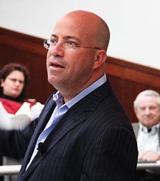 American Television Executive Jeff Zucker Speaks to MBA Students at Leadership L
