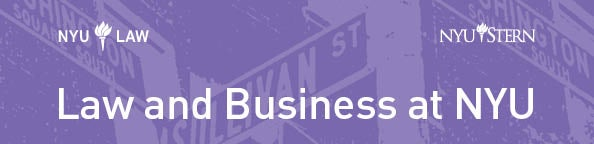 Law & Business Initiative Banner with Stern and NYU Law