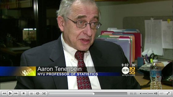 Prof. Aaron Tenenbein on the odds of winning the lottery