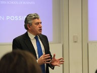 Gordon Brown speaks at MBA Block Lunch_feature
