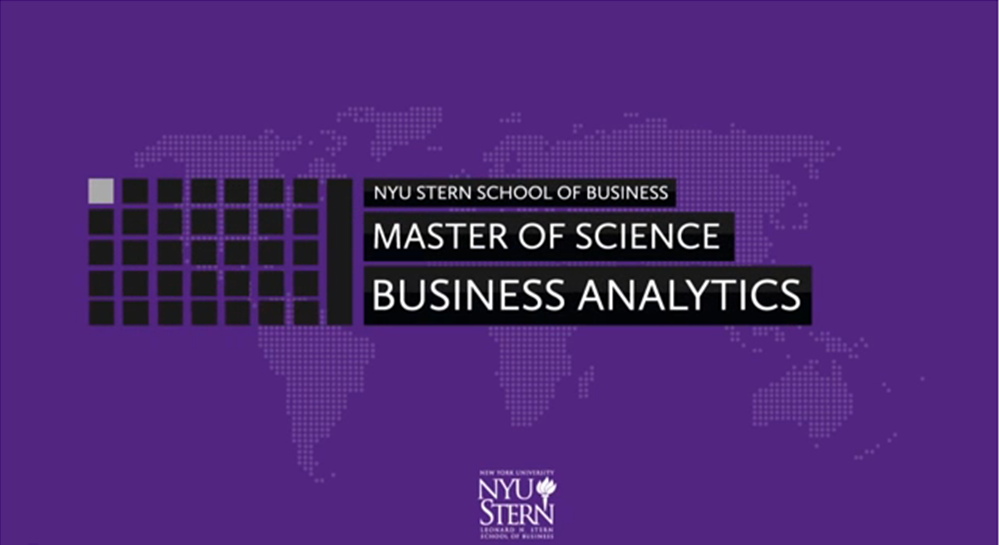 NYU Stern MS in Business Analytics Video