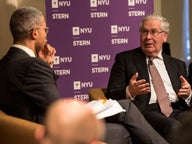 Lord Mervyn King and Peter Henry