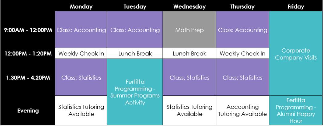 fertitta schedule