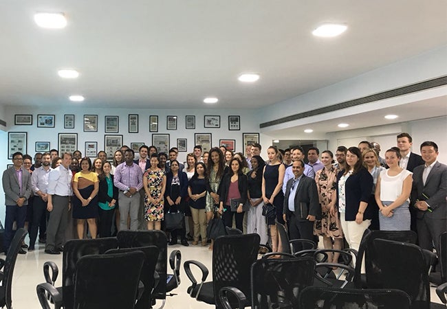 Group of Executive MBA students in India
