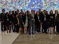 Group of MBA students in India