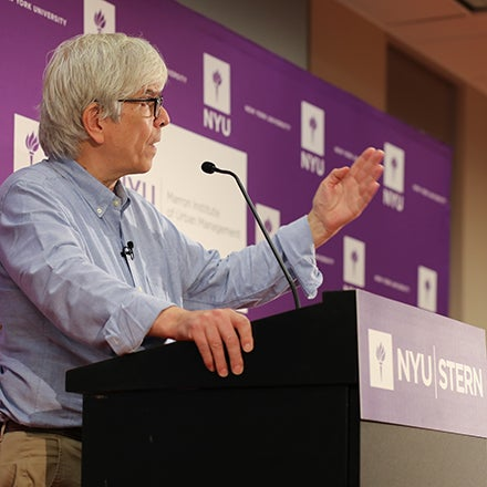 2018 Economics Nobel Laureate Paul Romer speaks to the press