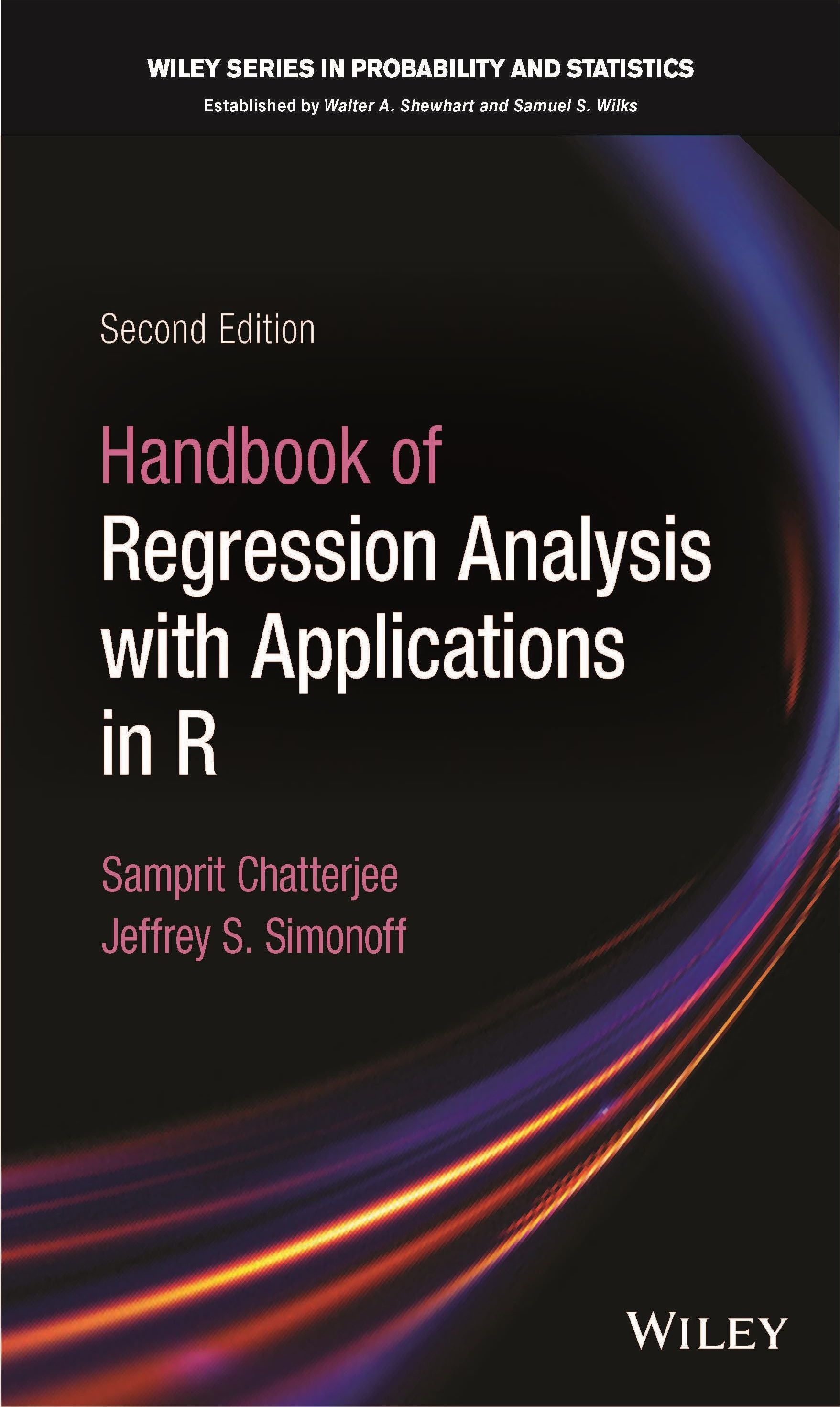 Cover of Handbook of Regression Analysis with Applications in R by Samprit Chatterjee and Jeffrey Simonoff