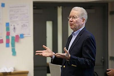 Professor Samuel Craig speaking